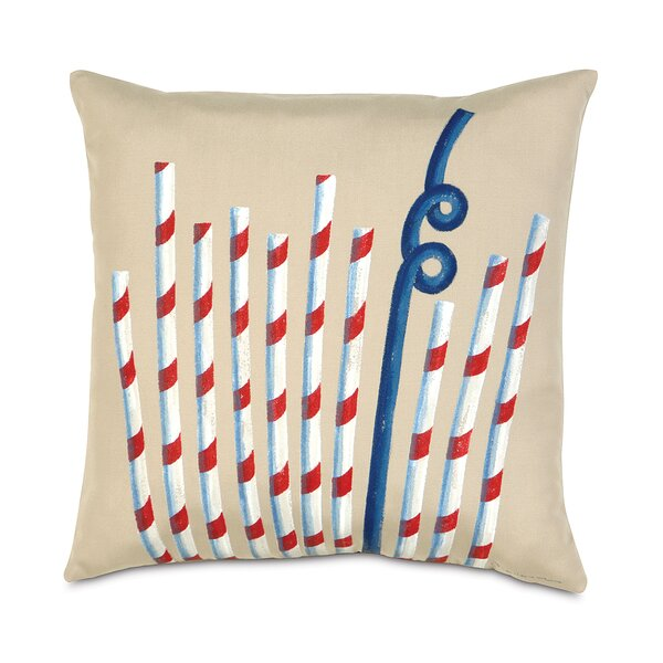 Studio 773 Summer Straws Indoor/Outdoor Throw Pillow by Eastern Accents