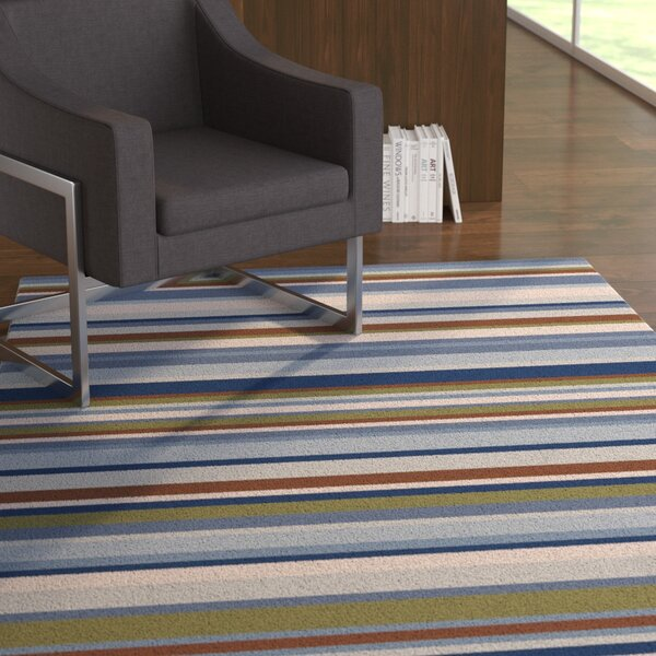 Dixon Multi-Colored Striped Rug by Ebern Designs