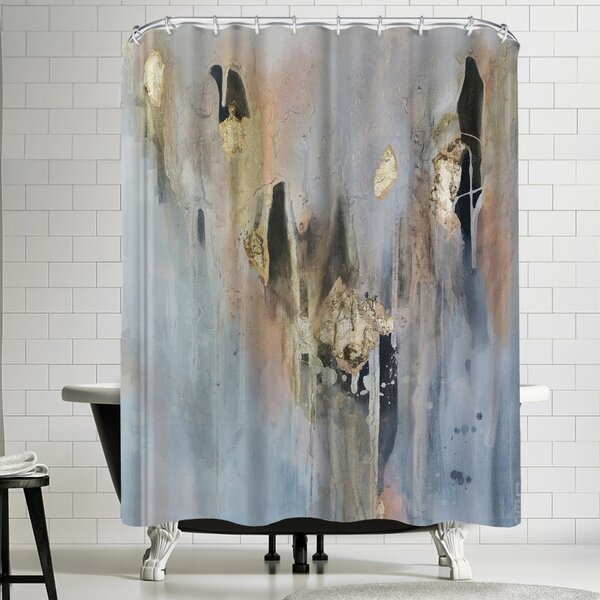 Christine Olmstead Over Black 3 Shower Curtain by East Urban Home