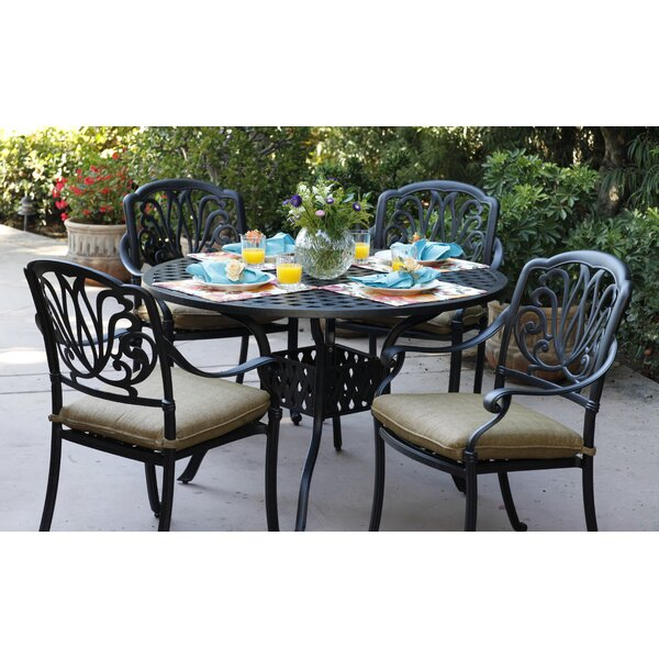 Lebanon 5 Piece Dining Set with Cushions by Three Posts