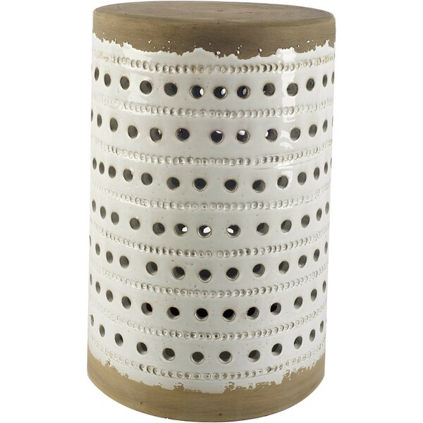 Arista Ceramic Garden Stool by World Menagerie
