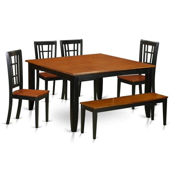 Pilning Modern 6 Piece Wood Dining Set by August Grove
