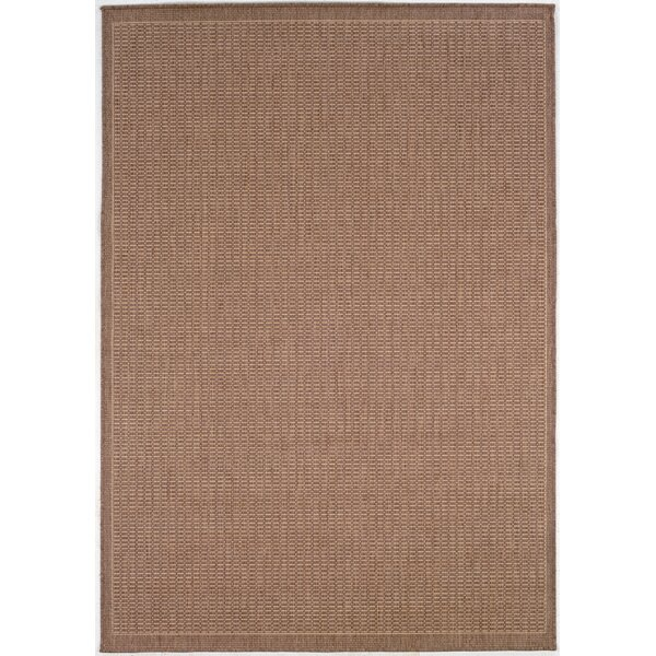 Westlund Saddle Stitch Cocoa Indoor/Outdoor Area Rug by Charlton Home