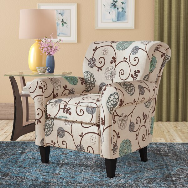Wadham Flowered Armchair by Alcott Hill