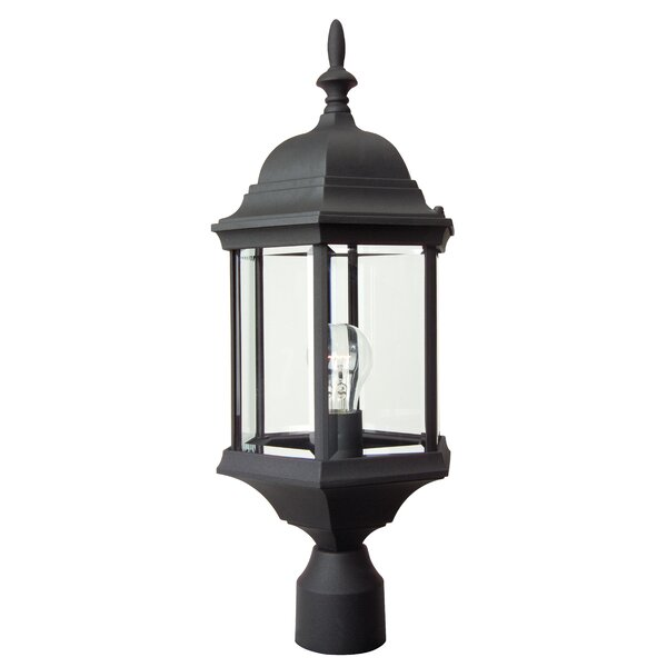 Oakhill 1-Light Matte Black Lantern Head by Charlton Home