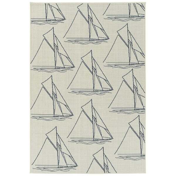 Ciaran Ivory Indoor/Outdoor Area Rug by Longshore Tides