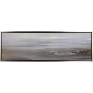 Abstract Landscape I by Sanjay Patel Framed Painting Print on Wrapped Canvas by Hobbitholeco.