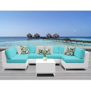 Miami 7 Piece Sectional Seating Group with Cushions TK Classics