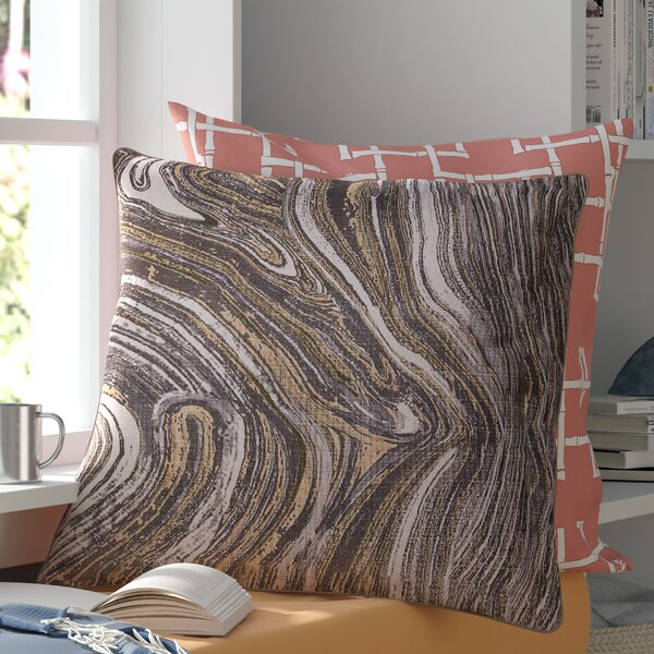 Dejean Marble Throw Pillow by Mercury Row
