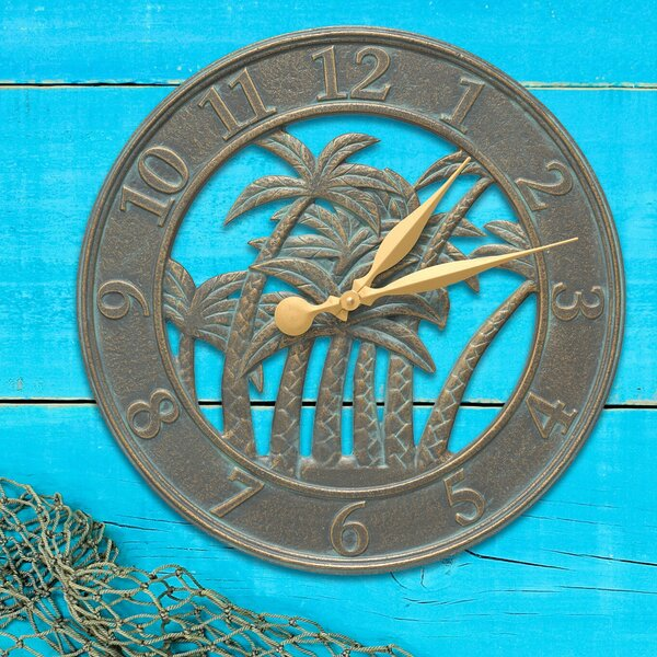 18 Palm Indoor/Outdoor Wall Clock by Whitehall Products