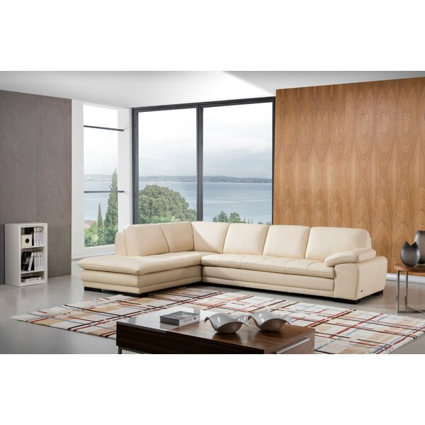 Web Buy Stockbridge Leather Sectional by Wade Logan by Wade Logan