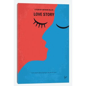 'Love Story Minimal Movie Poster' Vintage Advertisement on Wrapped Canvas by East Urban Home