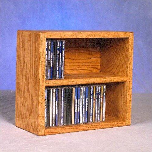 200 Series 52 CD Multimedia Tabletop Storage Rack by Wood Shed
