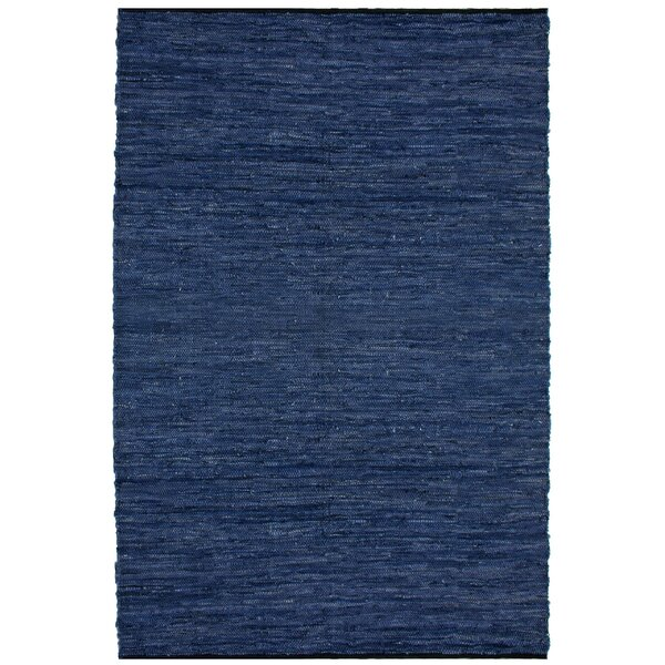 Sandford Flatweave Cotton Blue/White Area Rug by Latitude Run