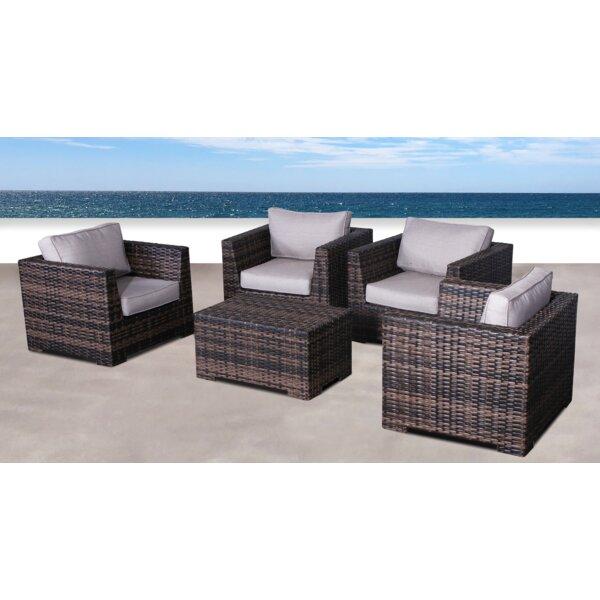 Pierson Resort 5 Piece Conversation Set with Cushions by Brayden Studio