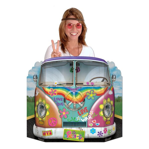 Hippie Bus Photo Prop Stand-up by The Beistle Company
