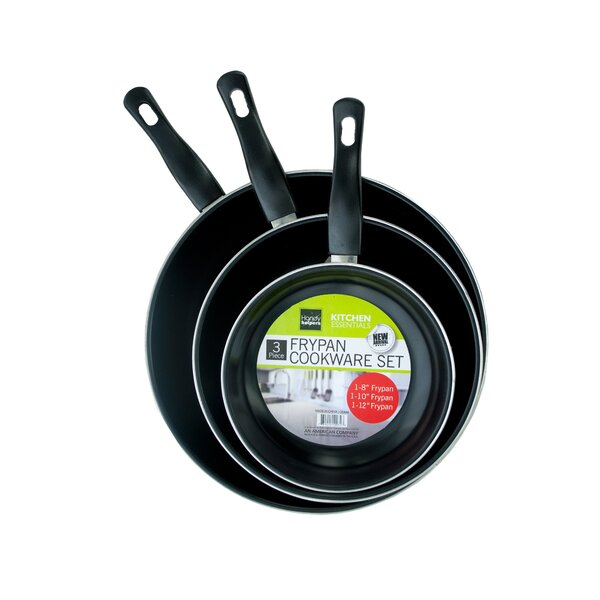 3-Piece Non-Stick Frying Pan Set by Kole Imports
