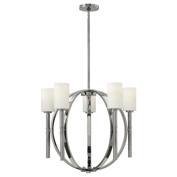 Darrell 5-Light Shaded Chandelier by Langley Street