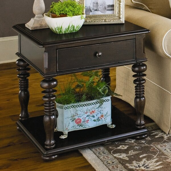 Badgett End Table With Storage  by Canora Grey