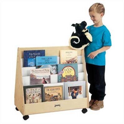 Double Sided 8 Compartment Book Display with Casters by Jonti-Craft