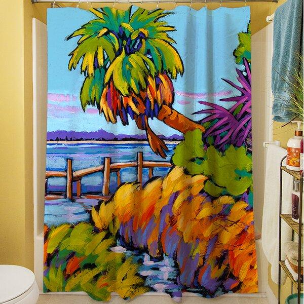 Cloud Nine Marsh Shower Curtain by Manual Woodworkers & Weavers