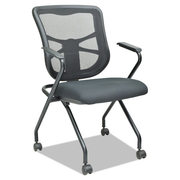 Krajewski Mesh Nesting Folding Chair (Set of 2) by Latitude Run