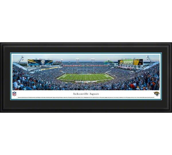 NFL Jacksonville Jaguars - 50 Yard Line by James Blakeway Framed Photographic Print by Blakeway Worldwide Panoramas, Inc