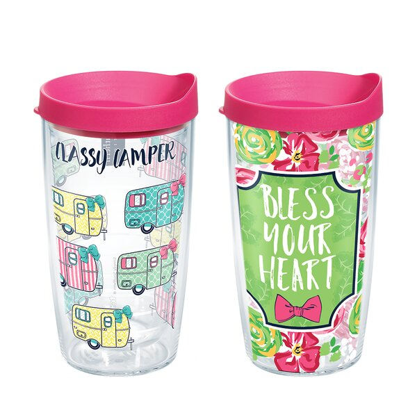 Simply Southern® 2 Piece 16 oz. Plastic Travel Tumbler Set by Tervis Tumbler