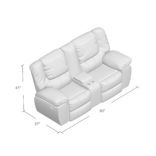 Simmons Upholstery Derosier Motion Reclining Loveseat by DarHome Co