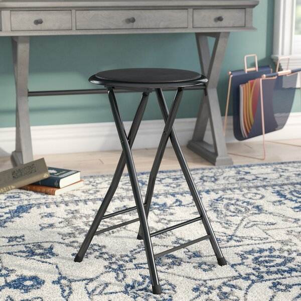 Melissa Cushioned Folding Stool by Winston Porter