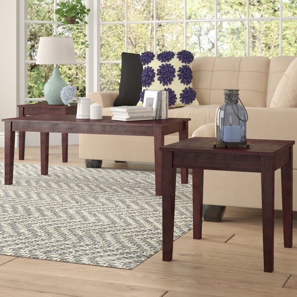 Clopton 3 Piece Coffee Table Set by Winston Porter