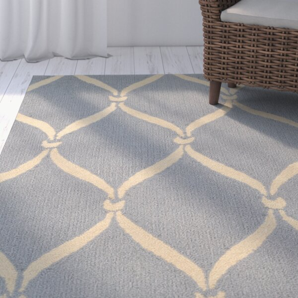 Coventry Light Blue/Ivory Area Rug by Beachcrest Home