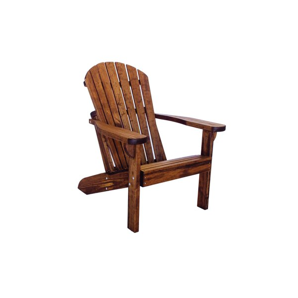 Poyner Patio Solid Wood Adirondack Chair by Loon Peak