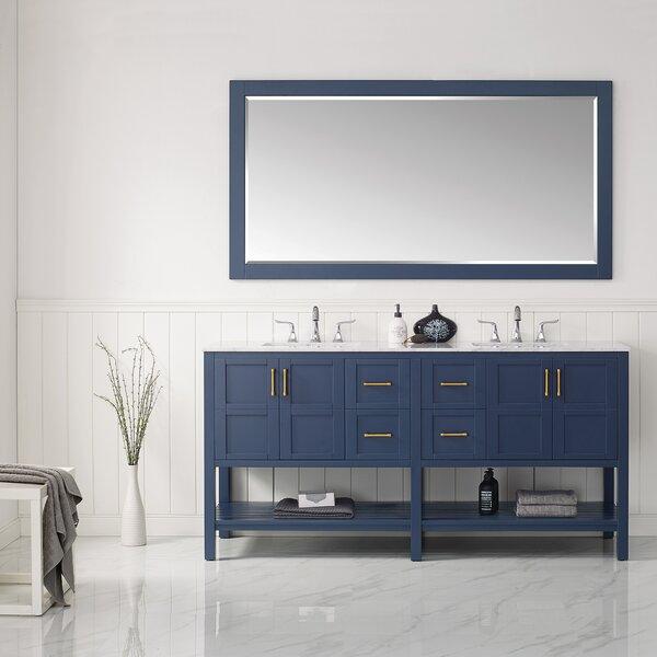 Eita 72 Double Bathroom Vanity Set with Mirror