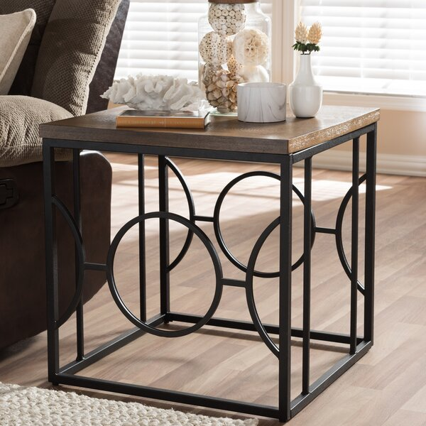 Haffey End Table by Wrought Studio