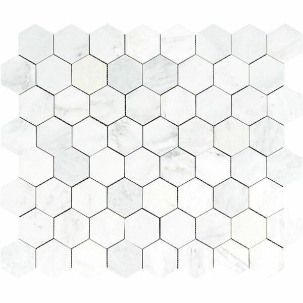 3 x 3 Marble Honeycomb Mosaic Wall & Floor Tile