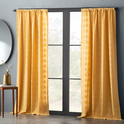 Geometric Yellow Amp Gold Curtains Amp Drapes You Ll Love In
