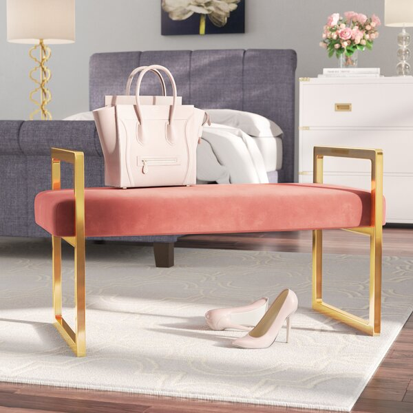 Elmwood Upholstered Bench by Everly Quinn