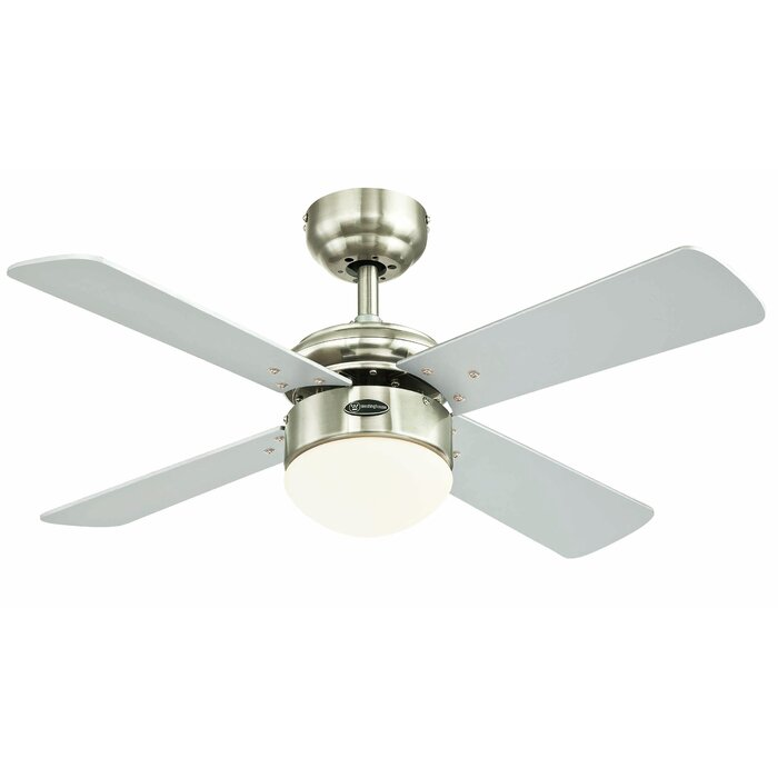 36 frampton cotterell reversible 4 blade led integrated ceiling fan with remote control