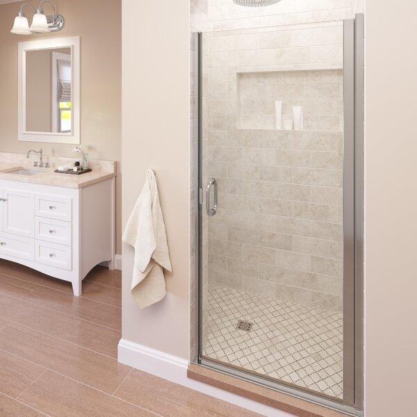 Infinity 34 x 65.56 Pivot Frameless Shower Door by Basco