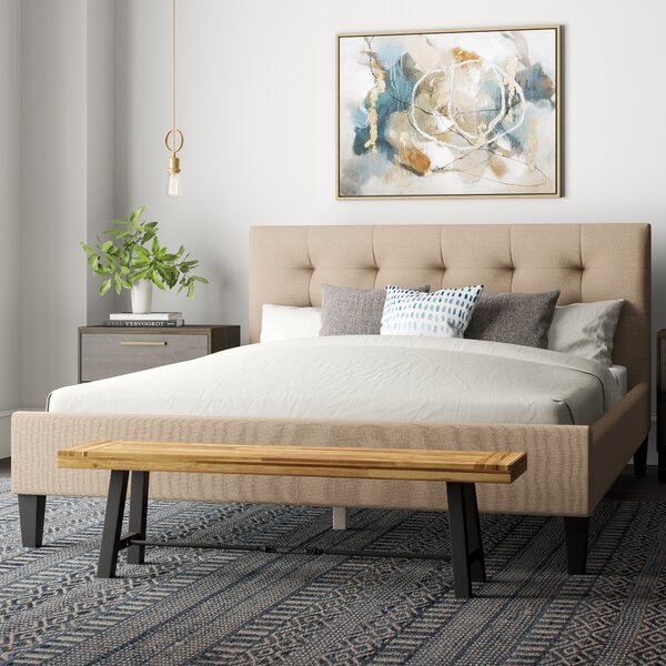 Halie Upholstered Platform Bed by World Menagerie
