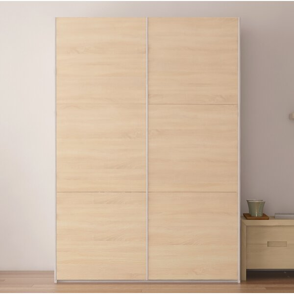 Zastrow 6 Shelves Armoire with Sliding Doors by Brayden Studio