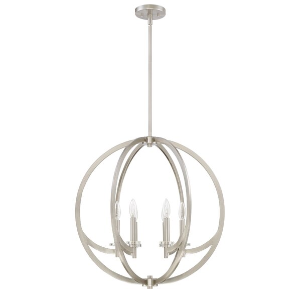 Kristi 6 - Light Candle Style Globe Chandelier by Laurel Foundry Modern Farmhouse Laurel Foundry Modern Farmhouse