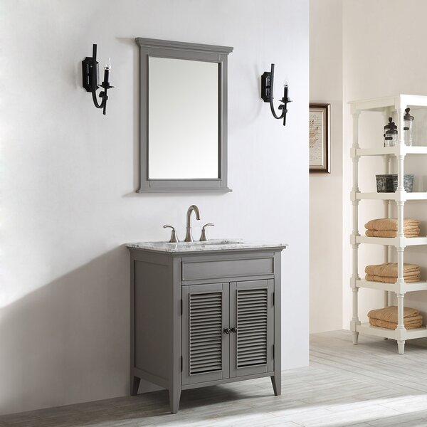 Grovetown 31 Single Bathroom Vanity Set with Mirror by Laurel Foundry Modern Farmhouse
