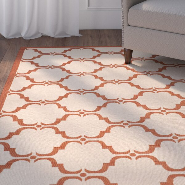Herefordshire Beige/Red Indoor/Outdoor Area Rug by Winston Porter