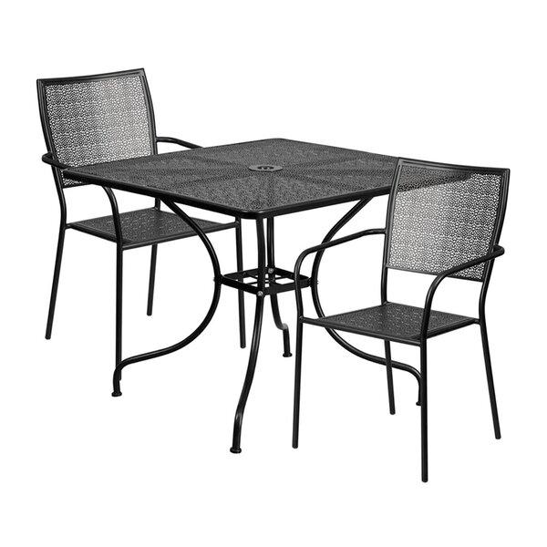 Sperber Outdoor Steel 3 Piece Dining Set