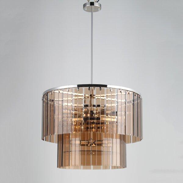 Dimas 14 - Light Unique / Statement Tiered Chandelier with Crystal Accents by Orren Ellis Orren Ellis