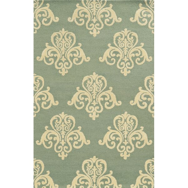Chios Hand-Tufted Light Blue/Beige Area Rug by Meridian Rugmakers