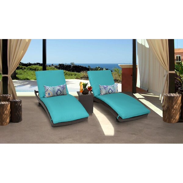 Medley Curved Sun Lounger Set With Cushions And Table By Rosecliff Heights