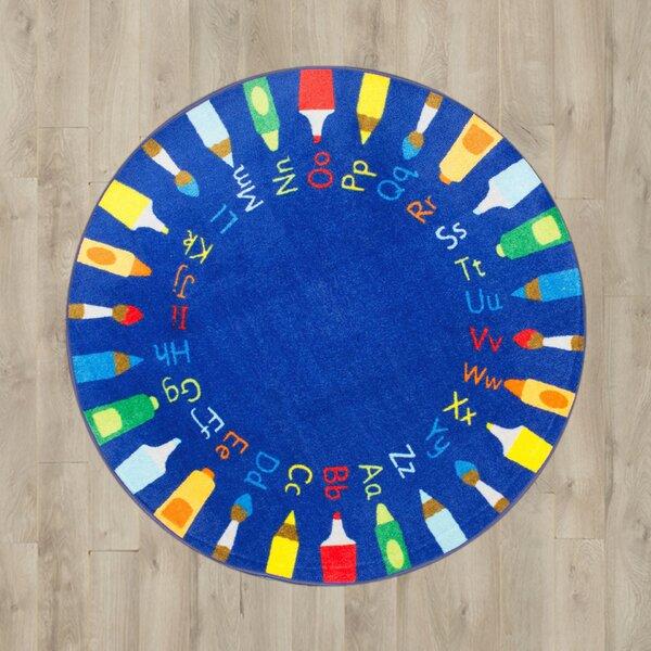 Deandre Baby Blue Shag Area Rug by Zoomie Kids